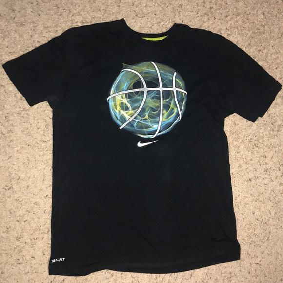 f5050fb6d71f0 Nike Shirts   Black Mens Dri Fit Cotton Basketball Tee   Poshmark